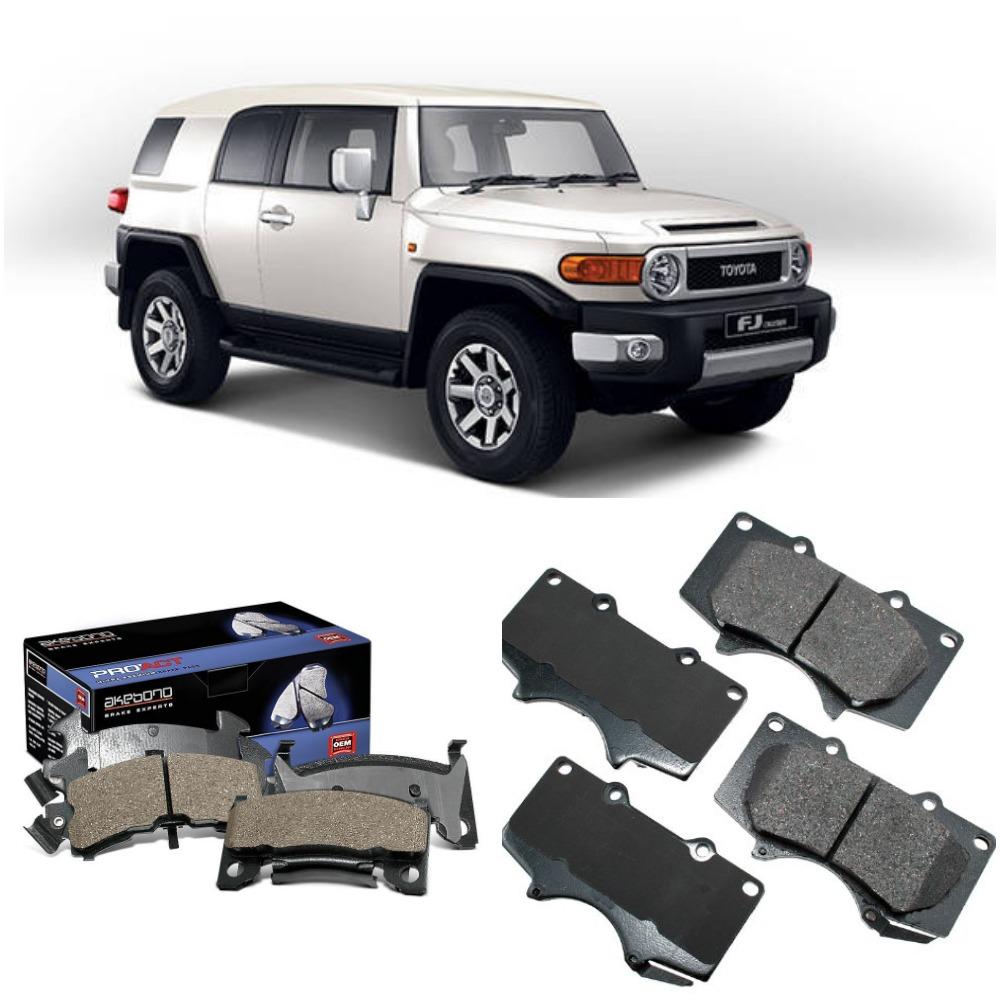 Front Akebono Brake Pad Set For Toyota FJ Cruiser 2007 - 2015