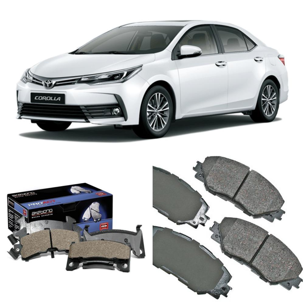 Front Akebono Brake Pad Set For Toyota Corolla 2009 - 2018
