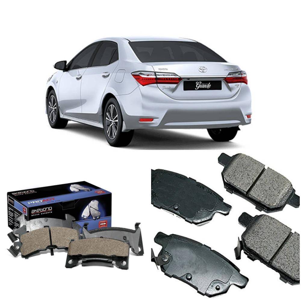 Rear Akebono Brake Pad Set For Toyota Corolla 2009 - 2018